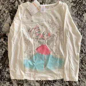 Gymboree skater fairy long sleeve top